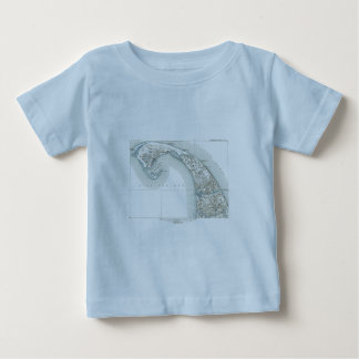 Map of Provincetown Cape Cod Massachusetts Baby T-Shirt