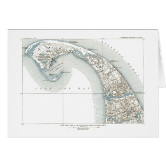 Map of Provincetown, provincetown ma, outer cape Card