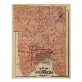 Map of Ramsey County, Minnesota Poster