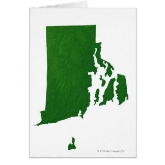 Map of Rhode Island 2 Card