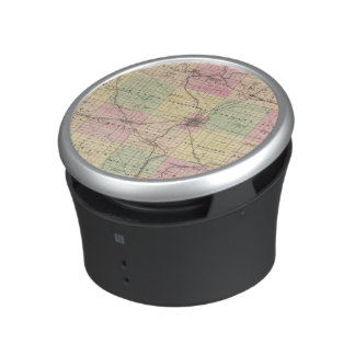 Map of Rock County, State of Wisconsin Bluetooth Speaker