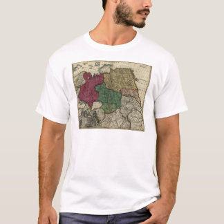 Map of Russia (1704) T-Shirt