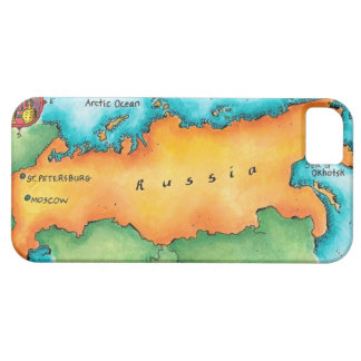 Map of Russia iPhone 5 Covers