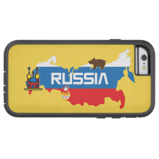 Map of Russia with White Blue and Red Flag within Tough Xtreme iPhone 6 Case