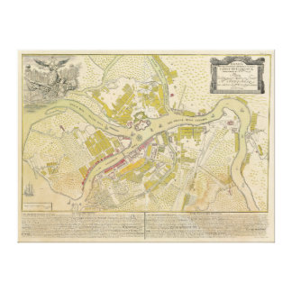 Map of Saint Petersburg Russia made in 1737 Stretched Canvas Prints