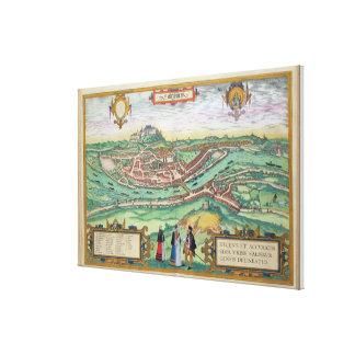 Map of Salzburg, from 'Civitates Orbis Terrarum' b Stretched Canvas Print