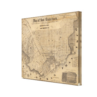 Map of San Francisco Stretched Canvas Print