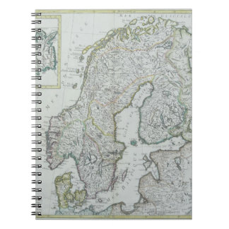 Map of Scandinavia Notebook