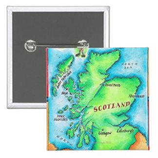 Map of Scotland 15 Cm Square Badge
