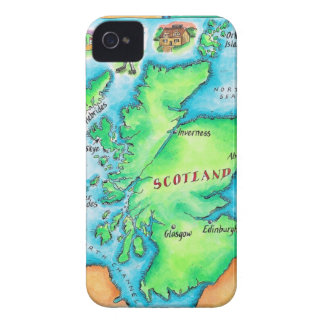 Map of Scotland iPhone 4 Cases