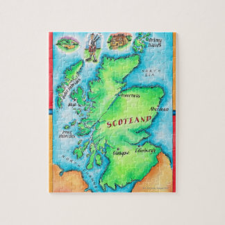 Map of Scotland Jigsaw Puzzle
