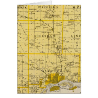 Map of Scott County, State of Iowa Card