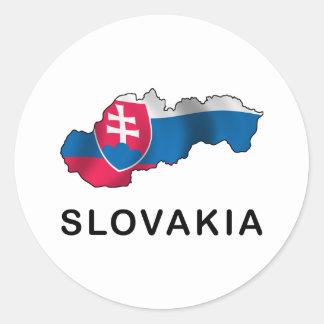 Map Of Slovakia Classic Round Sticker