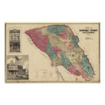 Map of Sonoma County California Poster