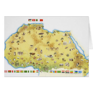 Map of South Africa 2 Card
