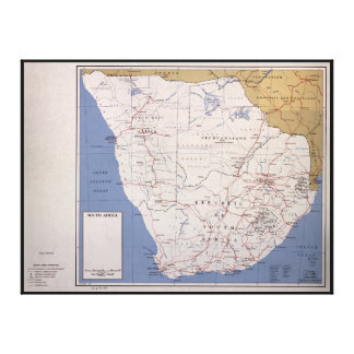 Map of South Africa (December 1961) Stretched Canvas Prints