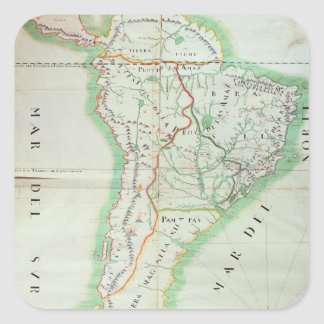 Map of South America, 1777 Square Stickers