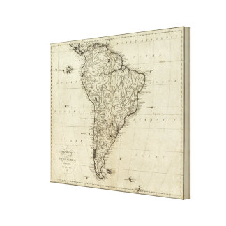 Map of South America Gallery Wrap Canvas