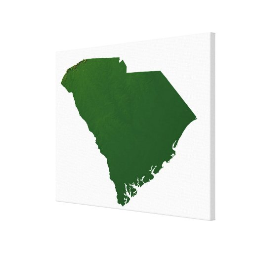 Map of South Carolina Gallery Wrapped Canvas