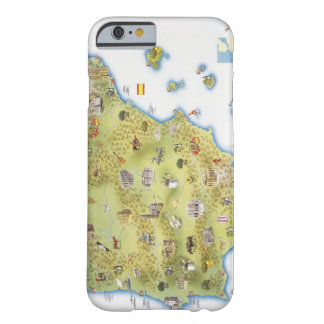 Map of Spain and Portugal iPhone 6 Case
