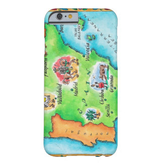 Map of Spain Barely There iPhone 6 Case