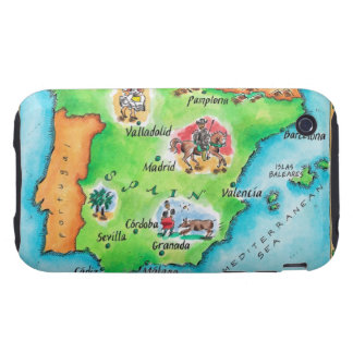 Map of Spain iPhone 3 Tough Case
