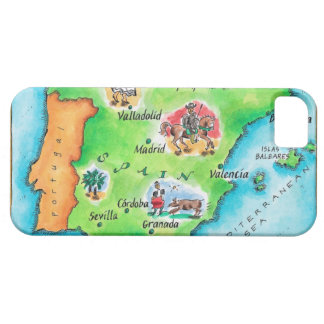 Map of Spain iPhone 5 Covers