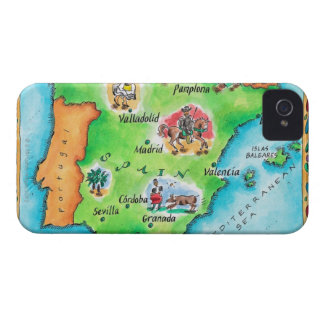 Map of Spain Case-Mate iPhone 4 Cases
