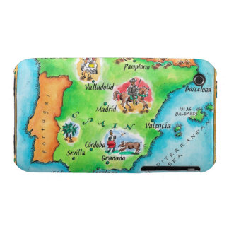 Map of Spain iPhone 3 Case-Mate Case