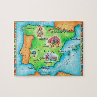Map of Spain Jigsaw Puzzle