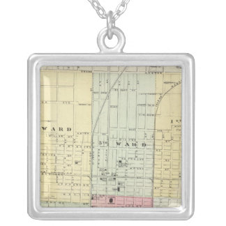 Map of Springfield City Silver Plated Necklace