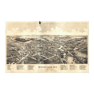 Map of Springville New York (1892) Gallery Wrap Canvas