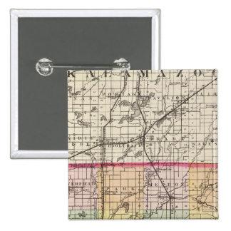 Map of St Joseph County Michigan Pinback Buttons