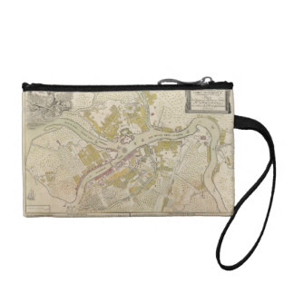 Map of St. Petersburg, Russia created in 1737 Coin Wallets