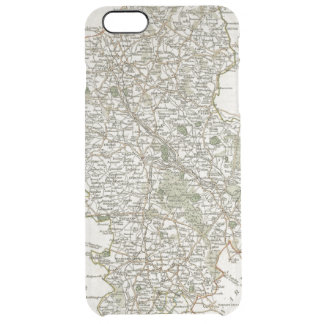MAP OF STAFFORDSHIRE, 1793 CLEAR iPhone 6 PLUS CASE