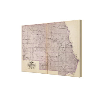 Map of Stearns County, Minnesota Gallery Wrapped Canvas