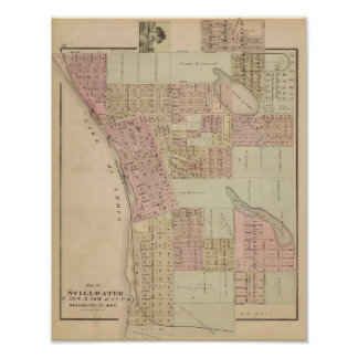 Map of Stillwater, Washington County, Minnesota Poster