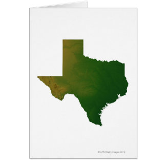 Map of Texas 2 Card