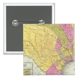Map Of Texas 15 Cm Square Badge