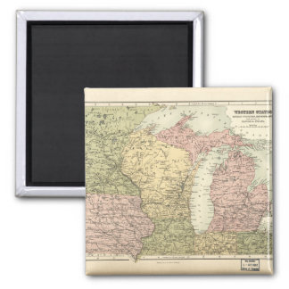 Map of the American MidWest (1873) Magnet