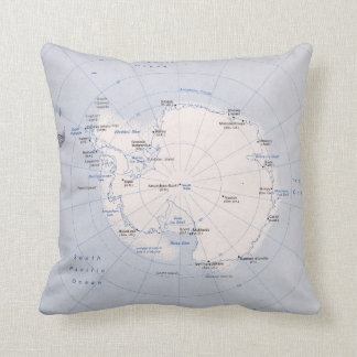 Map of the Antarctic Region (1982) Cushion