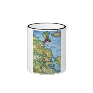 Map of the Battle of Corunna Coffee Mug