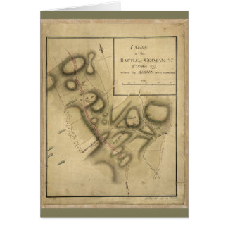 Map of the Battle of Germantown (Oct. 4th 1777) Card