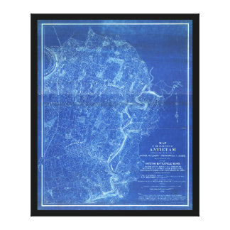 Map of the Battlefield of Antietam (1898) Stretched Canvas Prints