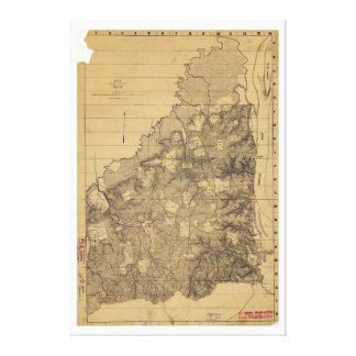 Map of the Battlefield of Shiloh April 6 & 7, 1862 Canvas Print