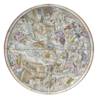 Map of the Christian Constellations as Depicted by Party Plates