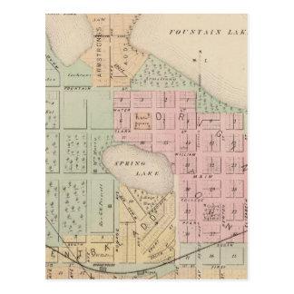 Map of the City of Albert Lea, Minnesota Postcard