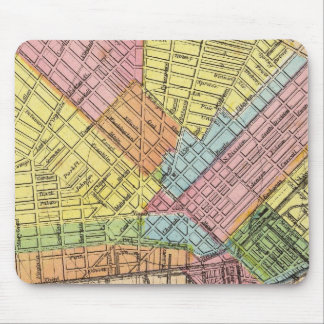 Map of The City of Buffalo Mouse Pad