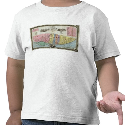 Map of The City of St. Louis Shirts