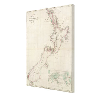Map of the Colony of New Zealand Canvas Print